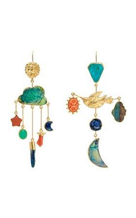 Lion And Bird Drop Earrings By Grainne Morton | Moda Operandi