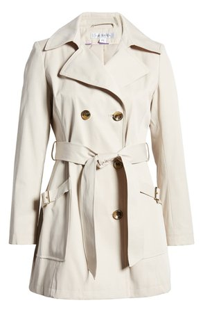 Via Spiga Double Breasted Trench Coat   Nordstrom