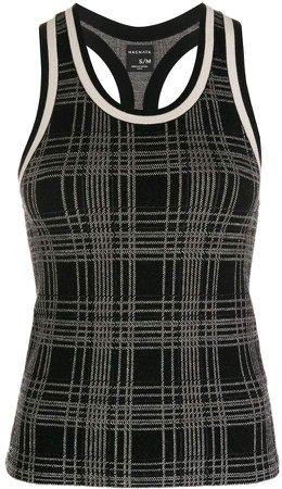 Nagnata Knitted Check Tank Top