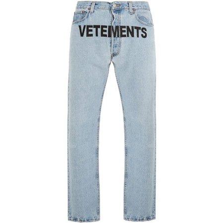 Vetements X Levi's logo-embroidery low-rise wide-leg jeans ($1,590)