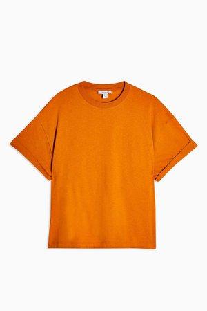 Cinnamon Boxy Roll T-Shirt | Topshop