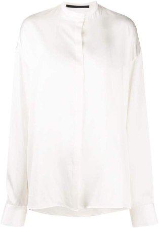 Silk-Satin Loose Shirt