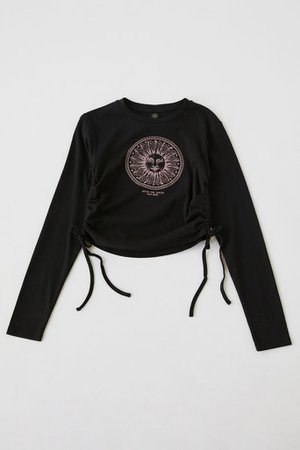 Sun Ruched Side-Tie Tee | Urban Outfitters