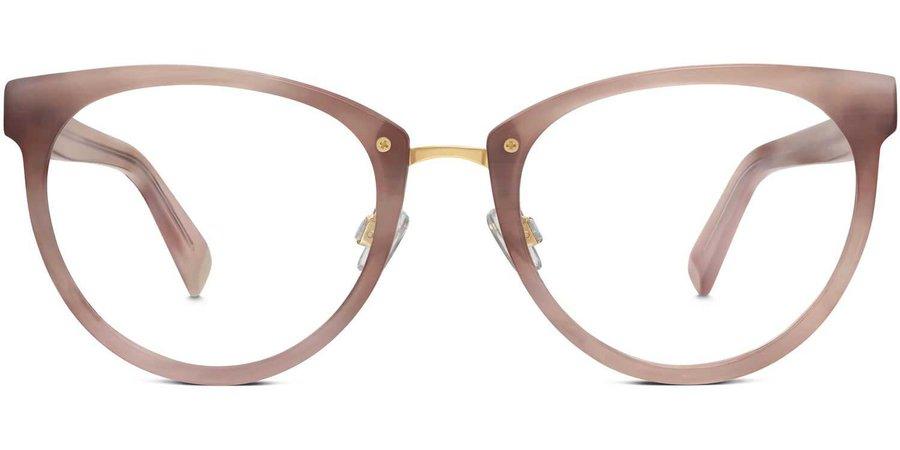 Tansley Eyeglasses in Pale Rose Horn for Women | Warby Parker