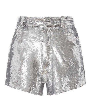 IRO Silver Sequin Shorts - INTERMIX®