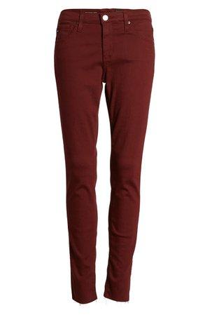 AG The Legging Ankle Super Skinny Jeans | burgundy