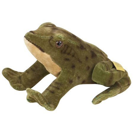 "1950s German Steiff Velveteen Crouching Frog 4 1/4"" : Fun City | Ruby Lane"