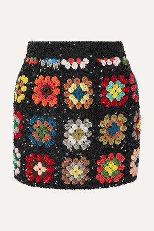 Ashish | Sequined georgette mini skirt | NET-A-PORTER.COM