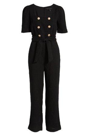 Endless Rose Double Button Short Sleeve Jumpsuit | Nordstrom