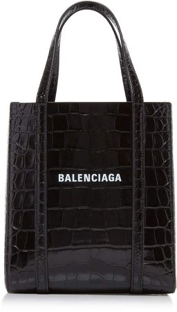 Everyday Croc-Effect Patent Tote