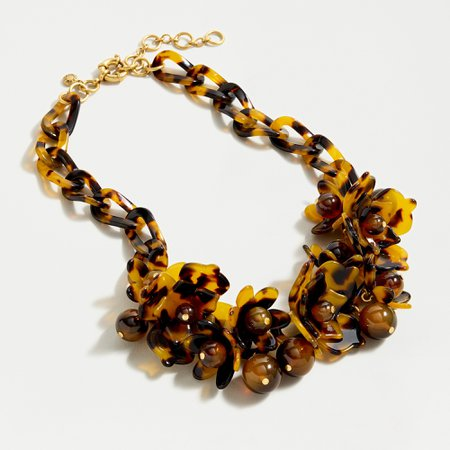 J.Crew: Acetate Blooming Necklace In Tortoise For Women