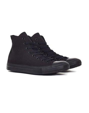Comfortable Converse Chuck Taylor All Star Mono Hi-Top Plimsolls Black - Converse Mens Black Plimsolls - Converse Shoes Sale I56p1470, Retail Stores
