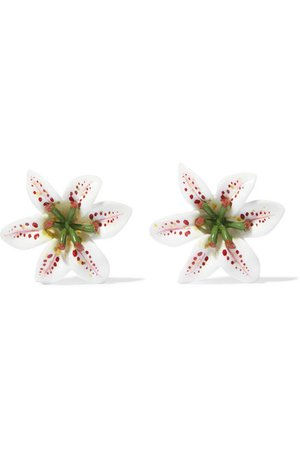 DOLCE & GABBANA Lilium resin clip earrings