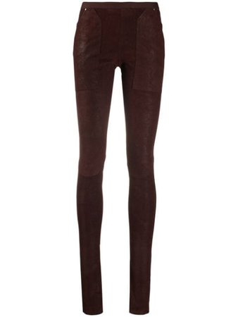 Rick Owens skinny-fit Panelled Trousers - Farfetch