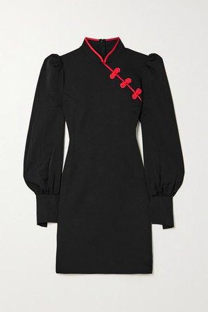 Pachino Satin-trimmed Twill Mini Dress - Black