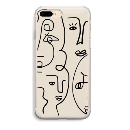 Face Picasso iPhone Case Line Art Abstract Drawing Phone Cases Cover