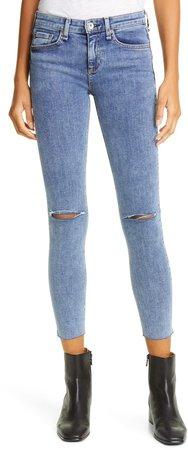 Dre Ripped Crop Skinny Jeans