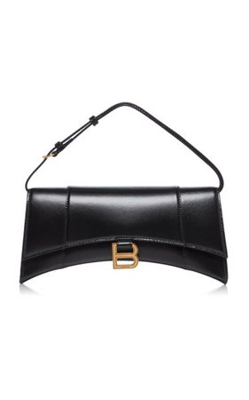 Hourglass Sling Leather Shoulder Bag By Balenciaga   Moda Operandi