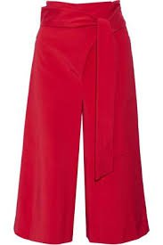 cropped wide leg pants red 1