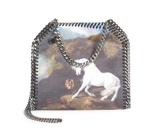 Stella McCartney Horse Graphic Mini Tote
