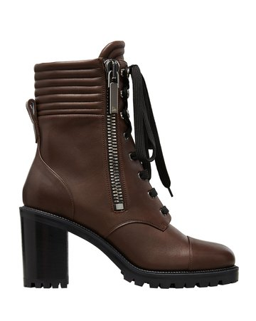 Christian Louboutin Hiver Dual-Zip Red Sole Combat Booties