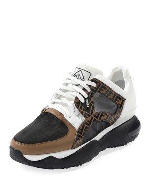 Fendi Men's Exotic Chunky Runner Sneakers | Neiman Marcus