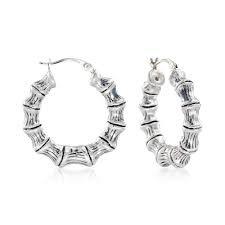 silver bamboo earrings - Google Search