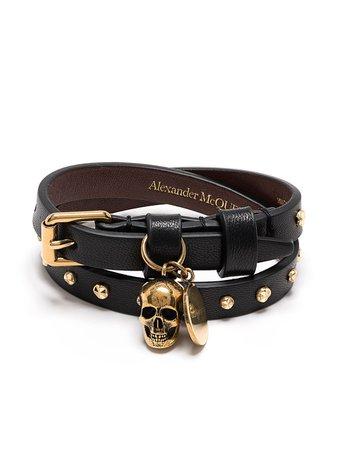 Alexander McQueen Skull Stud Wraparound Bracelet - Farfetch