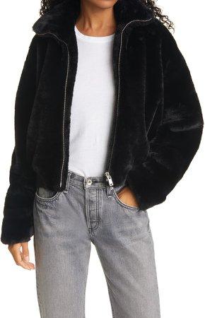 Kacy Faux Fur Bomber Jacket