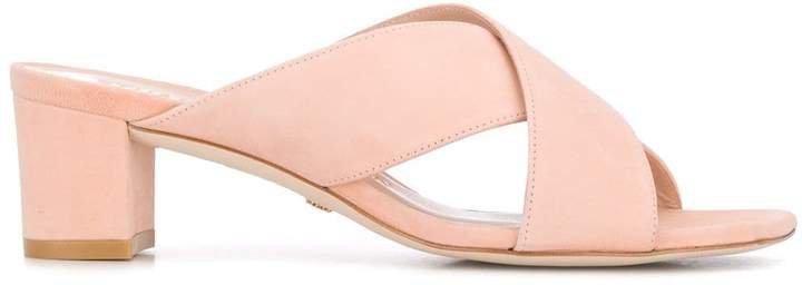 Wide Strap Suede Sandals