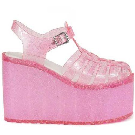 Pink Platform Jelly Shoes