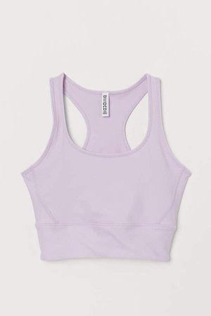 Cropped Tank Top - Purple
