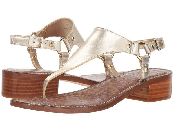 Sam Edelman - Jude (Molten Gold Foiled Polished Metallic Leather) Women's Sandals