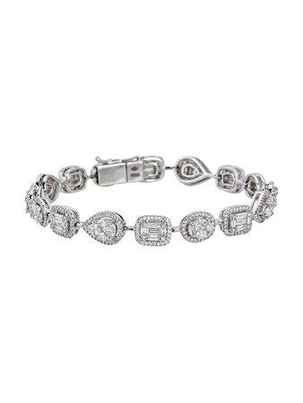 Zydo Mosaic 18K White Gold & Diamond Illusion-Set Bracelet