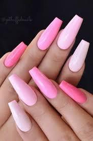 acrylic pink manicure - Google Search