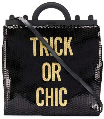 sequinned Trick Or Chic tote bag