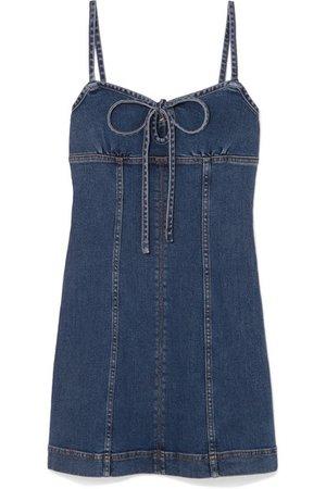 ALEXACHUNG   Denim mini dress   NET-A-PORTER.COM