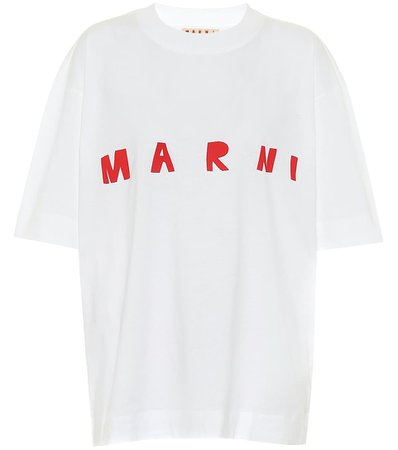 Logo Cotton T-Shirt - Marni | Mytheresa
