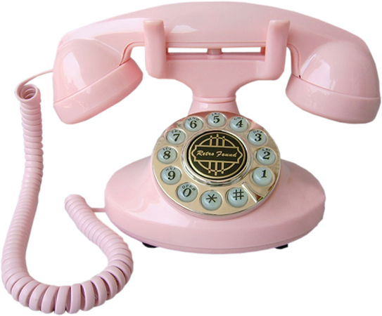 Vintage Pink Rotary Dial Phone