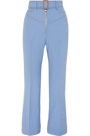 Ellery | Supervision Free belted cropped flared pants | NET-A-PORTER.COM