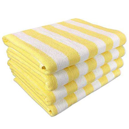 "Amazon.com: California Cabana Striped Oversized Beach Towel | Set of Four Extra Large 30"" x 70"" 