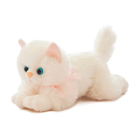New Arrival Realistic Cat Lifelike Plush Kitten Toy Plushie Soft Toy Stuffed Animal Cat Pillow for Girl Kids Birthday Gifts - AliExpress