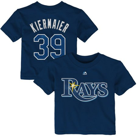 Infant Tampa Bay Rays Kevin Kiermaier Majestic Navy Player Name & Number T-Shirt