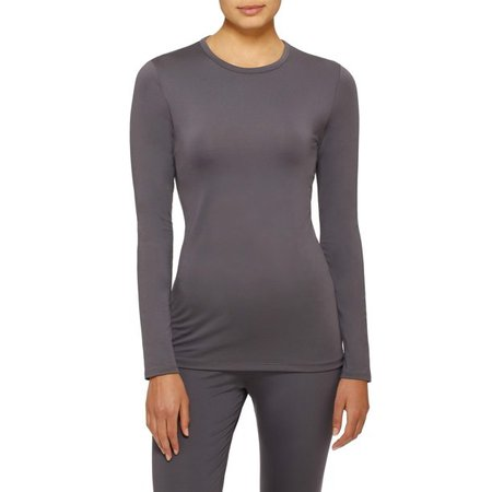 ClimateRight by Cuddl Duds - ClimateRight by Cuddl Duds Women's and Women's Plus Stretch Microfiber Long Underwear Long Sleeve Top - Walmart.com - Walmart.com