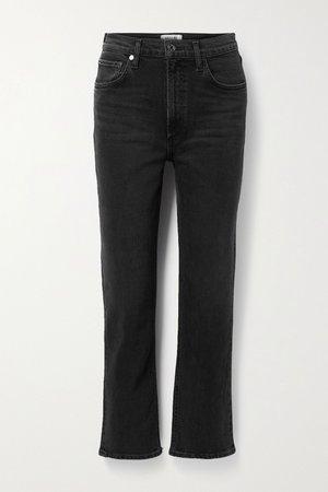 Black Wilder mid-rise straight-leg jeans | AGOLDE | NET-A-PORTER