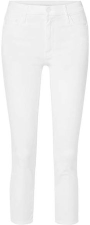 The Looker Cropped High-rise Skinny Jeans - White