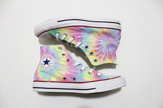 Tie Dye Converse Shoes Neon Pastel Colors Can be   Etsy