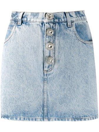 Alessandra Rich Denim Mini Skirt Ss20 | Farfetch.com