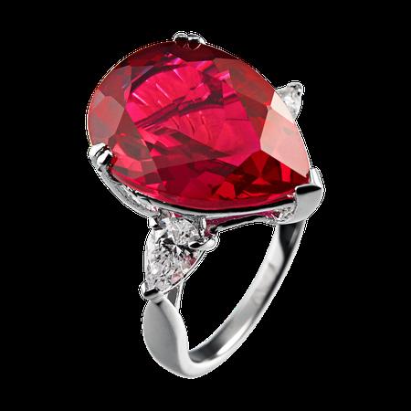 Red Garnet Cocktail Ring