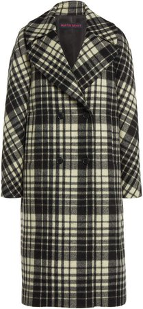 Martin Grant Plaid Wool Cocoon Coat